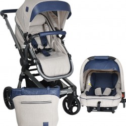 Πολυκαρότσι bebe star vista 3in1 blue 345-181