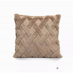 Καφέ μαξιλαράκι καναπέ με γέμισμα 45Χ45 cm AM-852-4