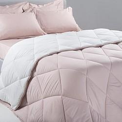 Isabel Pink White - Σετ Πάπλωμα 100% Βαμβάκι 4 Τεμαχίων 160x240cm 76003
