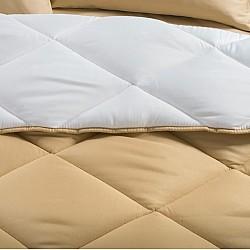 Isabel Beige White - Σετ Πάπλωμα 100% Βαμβάκι 4 Τεμαχίων 160x240cm 76004