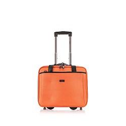 Βαλίτσa trolley με 2 ρόδες ταξιδίου  πορτοκαλί  ( 36Y x 42Φ x 14Β ) VT01
