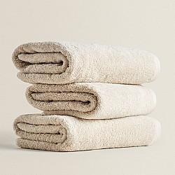 Μπεζ πετσέτες προσώπου 50Χ90 cm 3 τεμ. 100% οργανικό βαμβάκι 530gsm