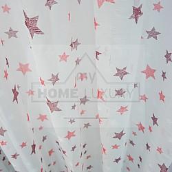 Kids Stars Bordeaux - Κουρτίνα Τούλι Με Κρίκο 260Χ280cm A418-13