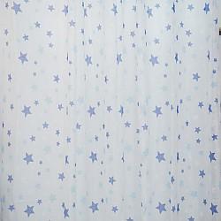 Kids Stars Blue - Κουρτίνα Τούλι Με Κρίκο 260Χ280cm A418-17