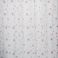 Kids Stars Lilac - Κουρτίνα Τούλι Με Κρίκο 260Χ280cm A418-6