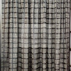 Cubic Xhaki - Κουρτίνα Ζακάρ Σκίασης Με Τρέσα 280Χ300cm 377-11