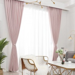 Town Pink - Κουρτίνα Σκίασης Ζακάρ 280Χ300cm Με Τρέσα 452-10