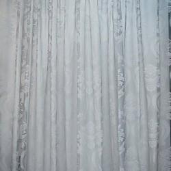 ΔΑΝΤΕΛΑ ΓΚΡΙ - ΚΟΥΡΤΙΝΑ ΗΜΙΔΙΑΦΑΝΗ 280Χ300cm ΜΕ ΤΡΕΣΑ 581-11