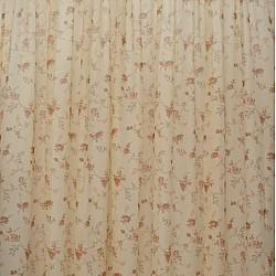 Brown - Λινή κουρτίνα ημιδιάφανη με τρέσα 280Χ300cm 588-4