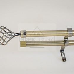 Ovate Κουρτινόξυλο χρυσό ανοιγόμενο 1,60 έως 3,10 cm 19mm 19347