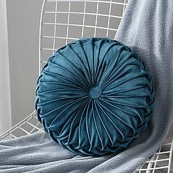 Decor Blue - Velvet Διακοσμητικό Μαξιλαράκι Στρόγγυλο 42x42cm 179-7