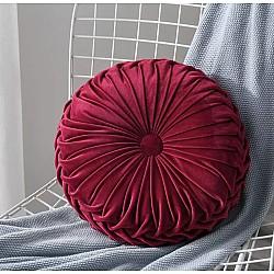 Decor Red - Velvet Διακοσμητικό Μαξιλαράκι Στρόγγυλο 42x42cm  179-2