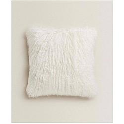 Διακοσμητικό μαξιλαράκι λευκό απο συνθετική γούνα 45Χ45cm ZH01