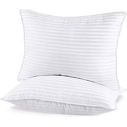 2 Τεμάχια Μαξιλάρια ύπνου σιλικόνης 100% βαμβάκι σατέν 50Χ70 cm