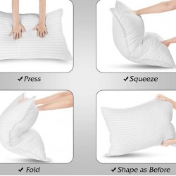 Μαξιλάρια ύπνου σιλικόνης 100%βαμβάκι σατεν 50Χ70 cm