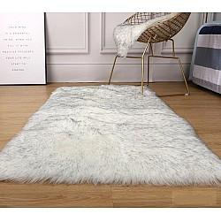 Angel Grey White - Πατάκι γούνας 060Χ150cm 937-11