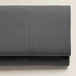 Monochrome - Σετ σεντόνια γκρι διπλά 160Χ200+25 cm με λάστιχο 100% οργανικό βαμβάκι 028160