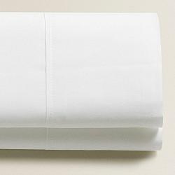 Monochrome - Σετ σεντόνια λευκά διπλά 160Χ200+25 με λάστιχο 100% οργανικό βαμβάκι 017160