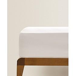 Σεντόνι λευκό (Δ017) 100% βαμβάκι Διπλό 160Χ200+25 με λάστιχο HOTEL