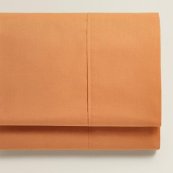 Monochrome - Σετ σεντόνια πορτοκαλί διπλά 160X200+25 cm με λάστιχο 100% οργανικό βαμβάκι 005160