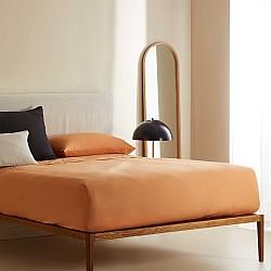 Monochrome - Σετ Σεντόνια πορτοκαλί ημίδιπλα 100% οργανικό βαμβάκι 0055