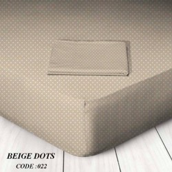 Dots - Μεμονωμένα σεντόνια με λάστιχο ή χωρίς 100 % βαμβάκι Διπλά / Υπερδιπλα