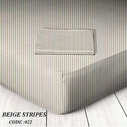 Stripes - Μεμονωμένα σεντόνια με λάστιχο ή χωρίς 100 % βαμβάκι Μόνα / Ημίδιπλα